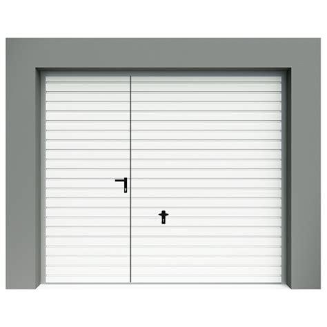 porte de garage basculante avec portillon rainures