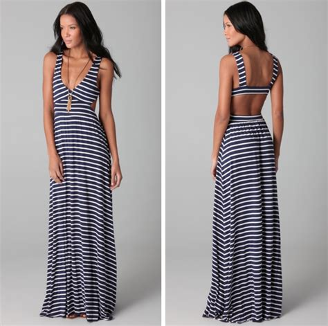 Richal Hitam pally stripe cutout dress design