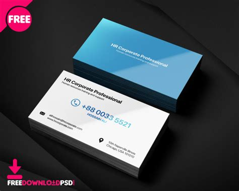 hr business cards templates free psd personal business card psd freedownloadpsd