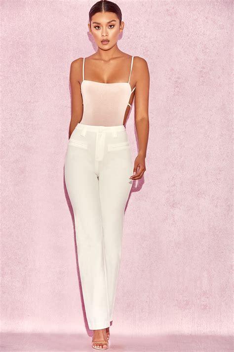 Highwaist White clothing cristo white high waist trousers