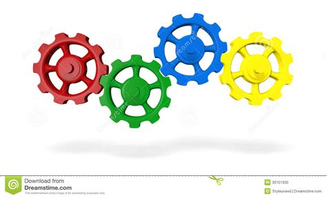 Wheels X Trayn Green cog wheels stock illustration image of spokes yellow