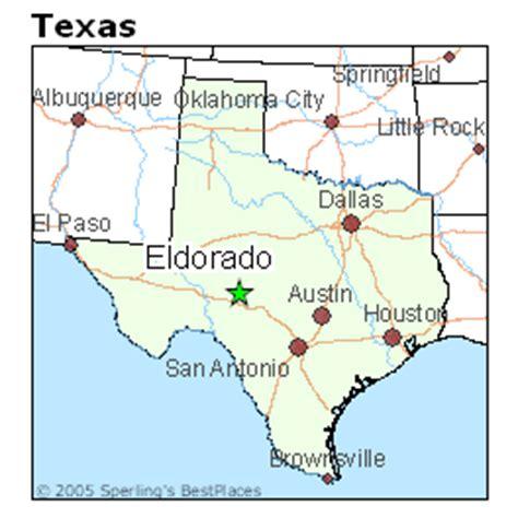 el dorado texas map best places to live in eldorado texas