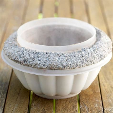 Make Your Own Planters And Pots by Make Your Own Concrete Pots Using Plastic Bowls As Forms