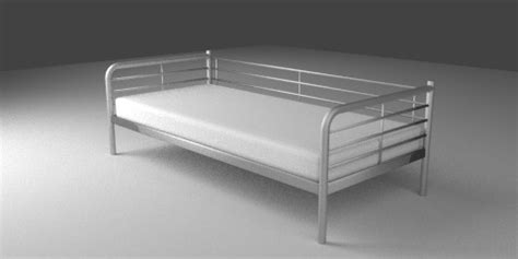 Ikea Silver Bed Frame Day Bed Frame Resources Free 3d Models For Blender Sweethome3d And Others