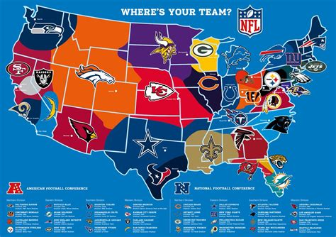 map usa nfl teams nfl uk on quot where s your team how the nfl teams