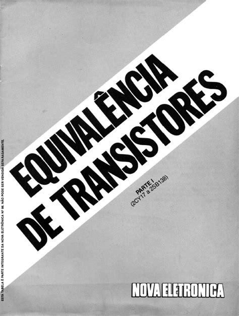 equivalencia do transistor a1013 tabela de equival 234 ncia de trans 237 stores partes i e ii datassette