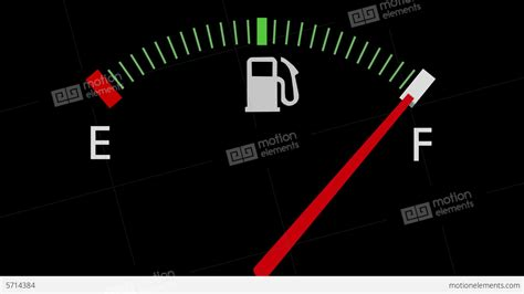 Fuel Gauge Full empty full Car Dashboard Meter Stock