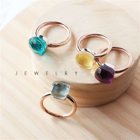 pomellato ring copy nudo ring in gold with garnet top sales