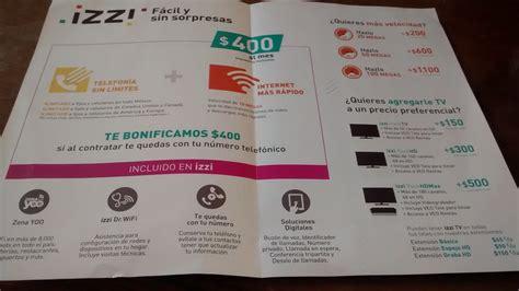 paquete izzi izzi paquetes izzi telecom refresc 243 a cablevisi 243 n en el