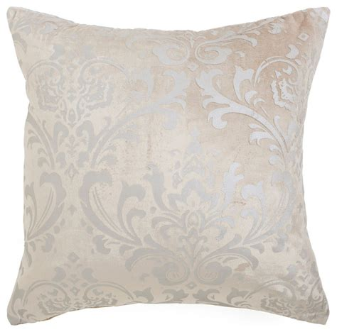 houzz pillows shop houzz best home fashion damask velvet pillow cover