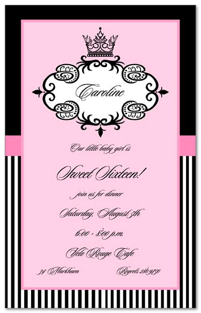birthday invitations divas sweet 16 11940