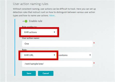 youtube url pattern automatic naming of xhr user actions based on url