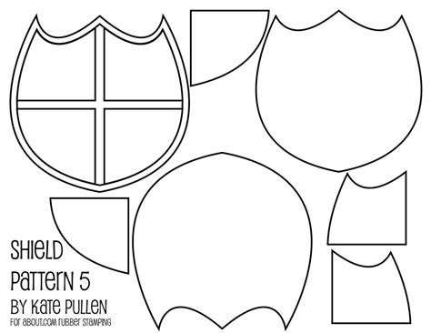 cardboard shield template five free shield templates for cards and scrapbook pages