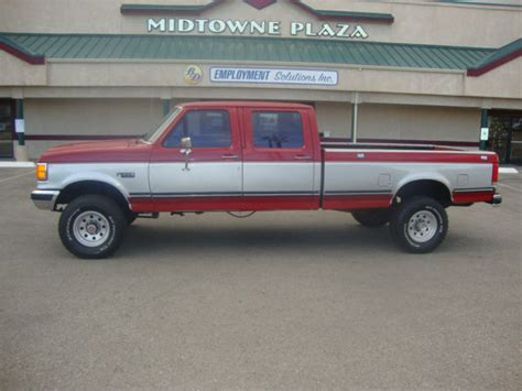 1988 ford f350 1988 ford f350 crew cab 4x4 and silver looking