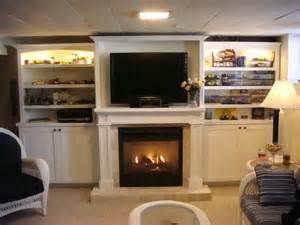 wall unit with fireplace home