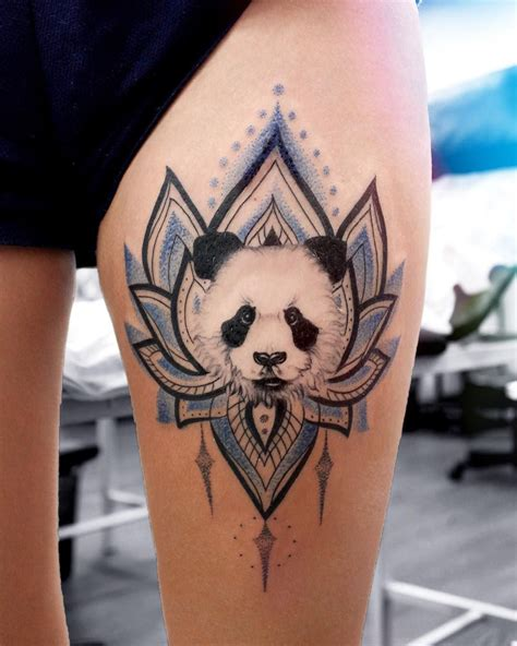panda tattoos designs panda mandala flower tat animal designs