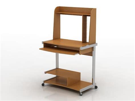 Mini Computer Desk by Mini Computer Desk 3d Model 3dsmax Files Free