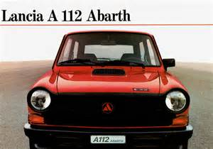 Abarth A112 1983 Lancia A112 Abarth Brochure
