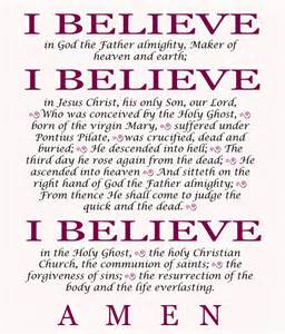 Apostles Creed I believe in God the Father Almighty Xtramath