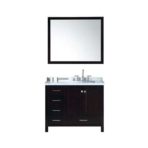 bathroom vanity tops 43 x 22 shop ariel cambridge espresso undermount single sink