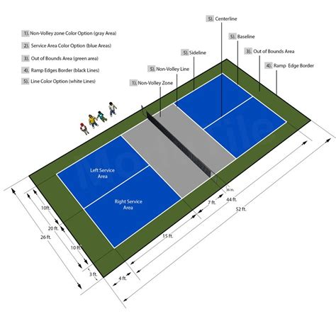 outdoor tennis court dimensions 28 images multi use