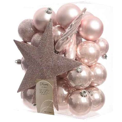 pink baubles next topper baubles blush pink seasonal from gardeners uk