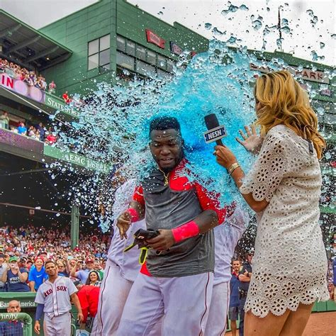 Win With Flower by Former Caps Host Guerin Austin Gets Drenched In Gatorade
