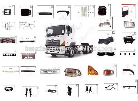 Spare Part Truck Hino supplier hino truck parts hino truck parts wholesale