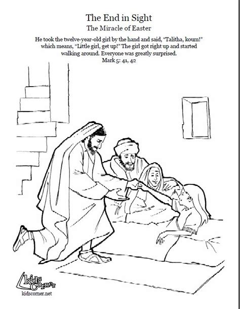 coloring page jesus heals jairus daughter 38 best bible coloring pages images on pinterest