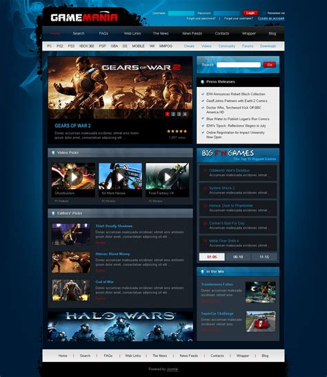 games joomla template 28532
