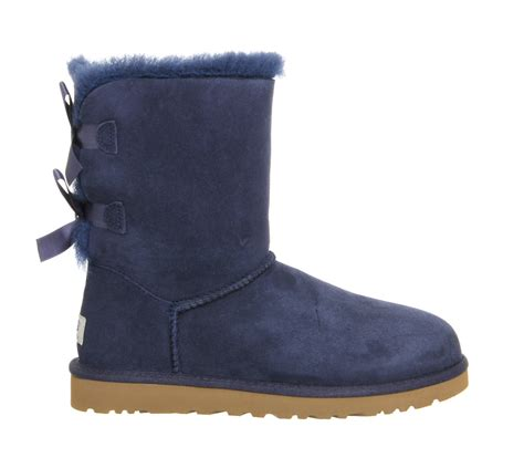 bow boots lyst ugg bailey bow calf boots in blue