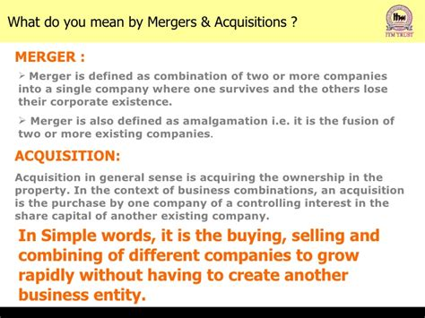 Mergers And Acquisitions Ppt For Mba by Murders Acquisitions