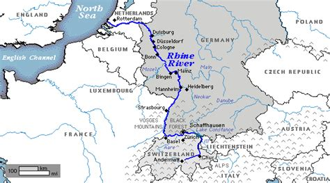 rhine germany map map rhine river