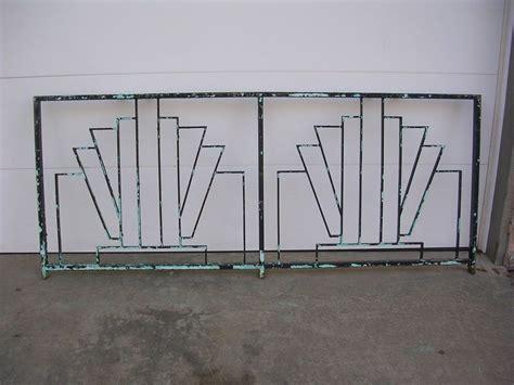 art deco balcony art deco wrought iron balcony rail railing fence headboard gate 1930 s 1940 s fence headboard