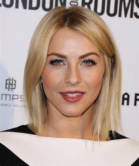 what type of hair does julianne hough have julianne hough medium straight formal hairstyle medium
