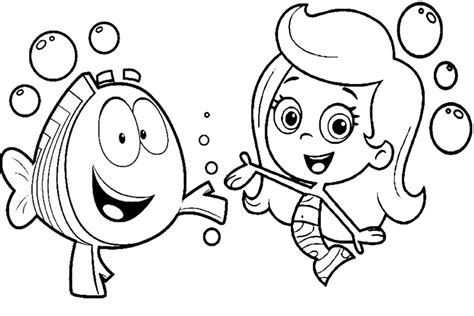 Coloring Pages Nick Jr Characters | bubble guppies coloring pages overview with great sheets