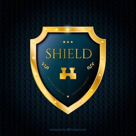 background  elegant golden shield vector