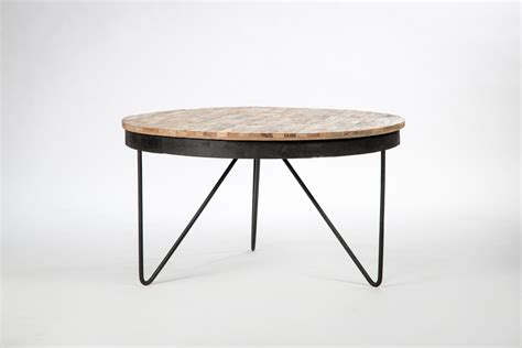Table Basse Bois Ronde by Table Basse Ronde Bois Et Metal Design D Int 233 Rieur