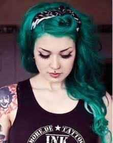 green hair color green hair thetattooedgeisha