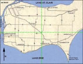 map of essex county ontario canada roads in essex county ontario