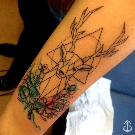 deer watercolor tattoo 25 best ideas about geometric deer on deer