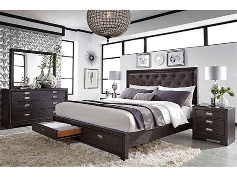 front street upholstered king bedroom set  furniture mart