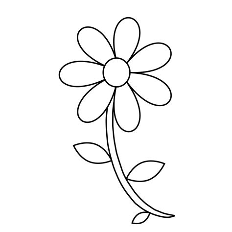 black and white coloring pages of flowers free coloring pages of flower with stem