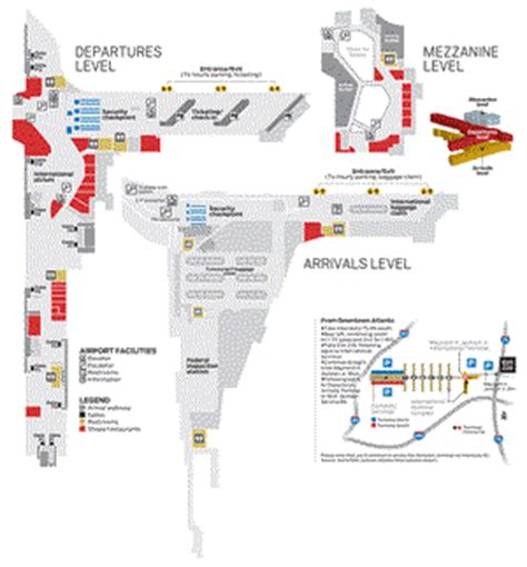 map of atlanta airport atlanta airport map outravelling maps guide