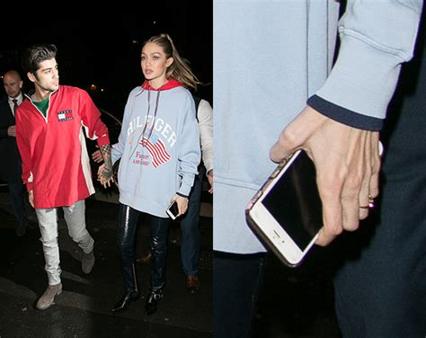 Ring Synchronizer Gigi 1 2 Lova gigi hadid spotted wearing ring on that finger after declaring zayn to be the of my