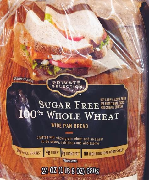does whole wheat have gluten private selections 100 whole wheat sugar free bread