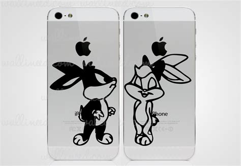 and lola wall stickers bugs bunny and lola bunny sticker iphone sticker