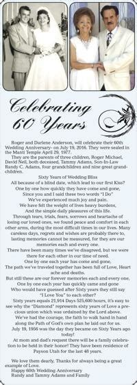 Wedding Anniversary Announcement by Anniversary Announcements Heraldextra