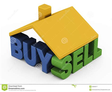 buy sell house buy sell home royalty free stock photography image 26690017