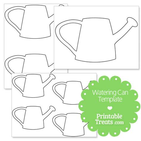 watering can template cards printable watering can template printable treats